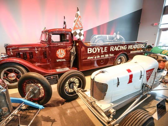 The fully restored Boyle Race Car Hauler, a 1934 Diamond