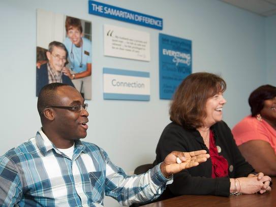 Samaritan Hospice employees including Devin Asante,