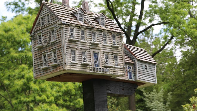 'Christina's World' is among the birdhouses by Thomas Burke inspired by Andrew Wyeth paintings.
