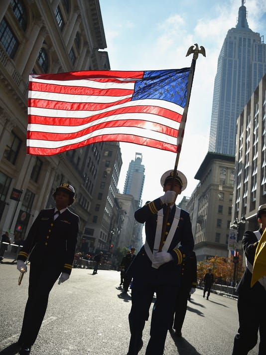 New York's Veterans Day Parade Honors Military Personnel