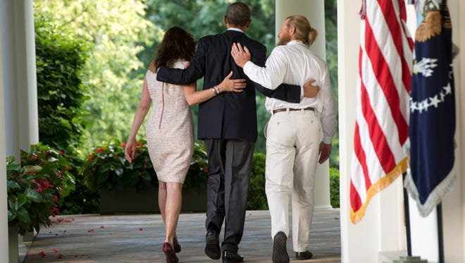President Obama and Bowe Bergdahl's parents at the White House.