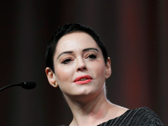 Rose McGowan on Oct. 27, 2017, in Detroit at the inaugural