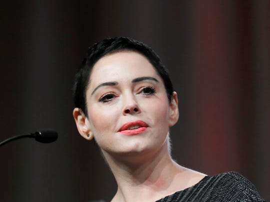 Rose McGowan in Detroit on Oct. 27, 2017.
