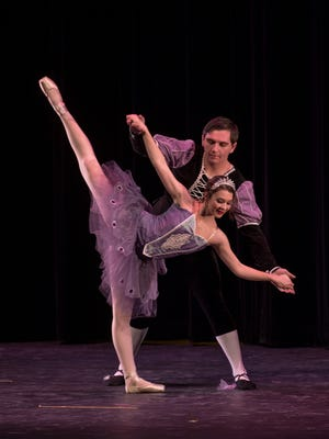 Jarod Charles and Cherelle Tucker are featured in the 2014 Mann Dance Academy Inc. production of 'The Nutcracker.' This year's production takes place this weekend at San Juan College.