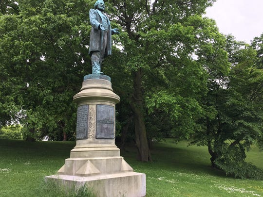The Frederick Douglass monument has stood in Highland