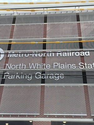 Metro-North Railroad's new parking garage in North White Plains.