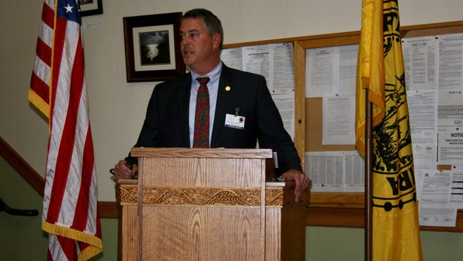 Elmira City Manager Michael Collins discusses his 2017 budget proposal at a Nov. 15 presentation.