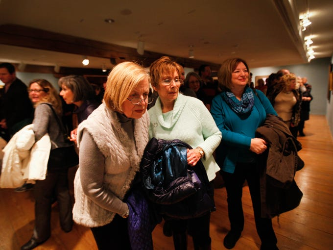 Lorraine Andersen (left), of Kennett Square, Pa., and