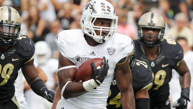 Western Michigan's Jarvion Franklin finished with 95 yards on 13 carries and a touchdown in the Broncos' victory over Ohio University.