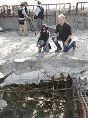 (Front) Co-producers Ayesha Siddiqi and Richard Bonin