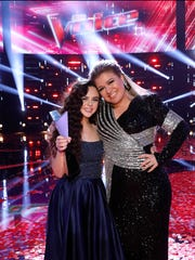 "Chevel Shepherd, left, says she and her coach from ""The Voice,"" Kelly Clarkson, will begin working on her debut album for the Universal Music Group in January."