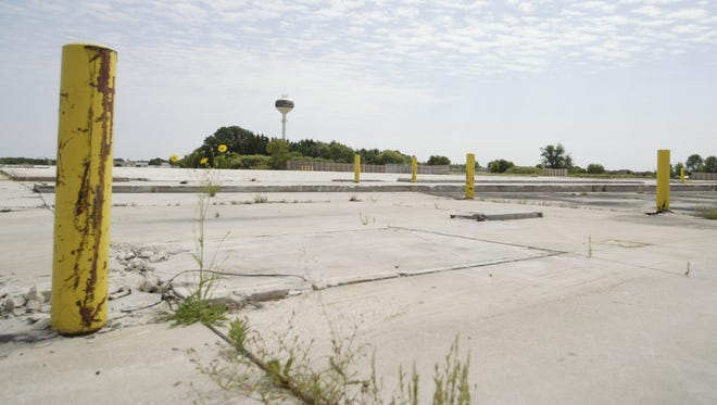 The former Menards storage facility has been cleared to make way for a planned Sam's Club in the Town of Sheboygan, though construction has been delayed several times and the store opening has now been pushed back to 2018.