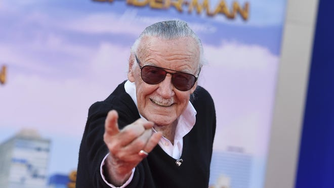 """In this June 28, 2017 file photo, Stan Lee arrives at the Los Angeles premiere of """"Spider-Man: Homecoming"""" at the TCL Chinese Theatre."""