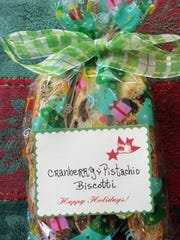 Homemade biscotti make a sweet gift from the kitchen for the holidays.