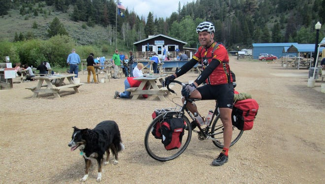 David Ziccardi panned for sapphires at Gem Mountain during at eight-day bicycle tour of Montana.