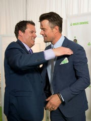 Actor and model Josh Duhamel in the green room at the 142nd Kentucky Derby on Saturday, May 7, 2016.