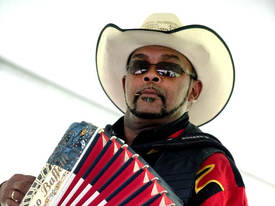 Accordion ace Jeffery Broussard plays zydeco, Creole,
