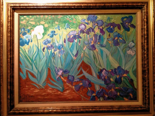 "Courtesy Photo   Ann Taylor's ""Blue Iris"" will be on display Friday and Saturday at the Hearst Church Gallery in Pinos Altos, NM."