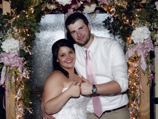 Jorden Hauck and David Murray were married on June 13, 2015. Submitted
