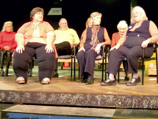 Actors perform on stage at DreamWrights Youth & Family Theatre. Area seniors participated in a six-week series of workshops called StAGEs.