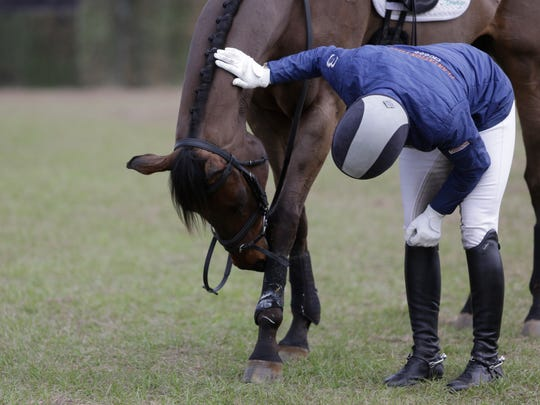 Just under 200 horses compete in dressage on the first day of the annual Red Hills Horse Trials in Elinor Klapp-Phipps Park March 10, 2017.