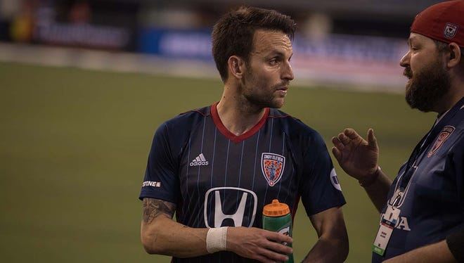 FILE -- Ayoze Garcia Perez, known as Ayoze, scored the lone goal Saturday in the Indy Eleven's victory over Louisville FC