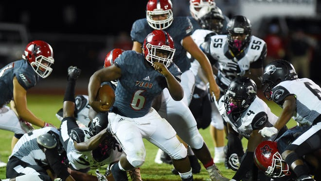 The Vero Beach High School Fighting Indians hosted Orlando Olympia on Friday, Nov. 10, 2017 in a Region 2-8A playoff game at the Citrus Bowl in Vero Beach. The Fighting Indians won 42-19.
