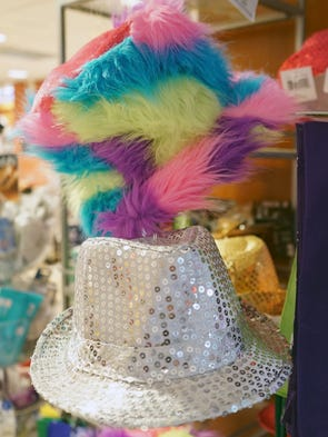Hats offered for sale at the Reno-Tahoe International