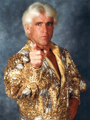 Wrestler Ric ``Nature Boy'' Flair in 1999.