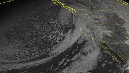 NOAA satellite image taken Thursday, Dec.11.