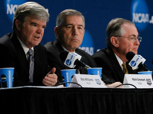 USP NCAA BASKETBALL: MARK EMMERT-PRESS CONFERENCE S BKC USA TX
