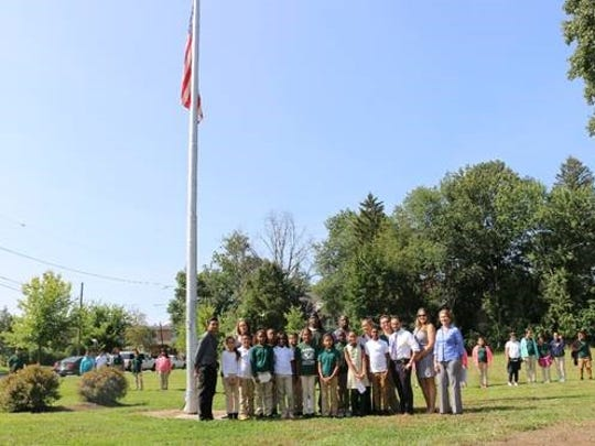 Ceremonies were held in the classroom and outdoors