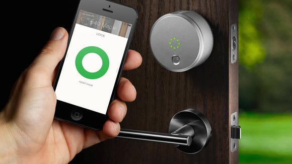 Show any visitors how to use the smart lock.