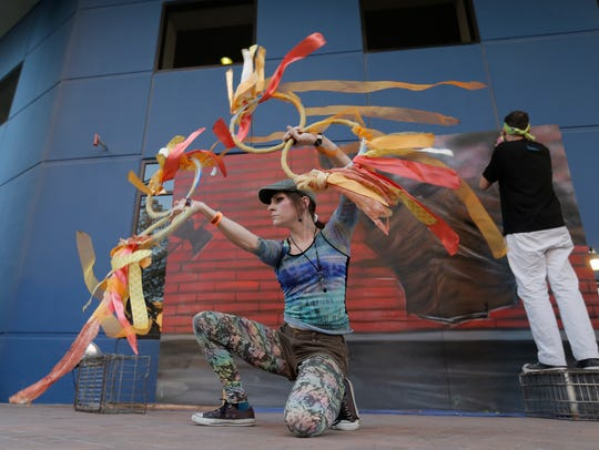 Performance artists entertained the crowd during the 2016 El Paso Downtown Street Festival.