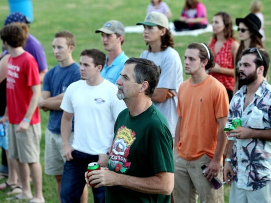 A crowd gathers to watch the Marcus King Band perform during the 35th annual Spittoono Festival in Central.