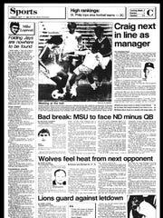 BC Sports History - Week of Sept. 17, 1985