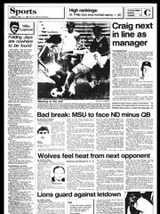 BC Sports History - Week of Sept. 17, 1985