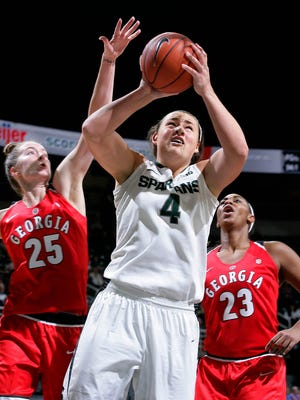 Former MSU center Jasmine Hines has signed a contract to continue her basketball career in Switzerland.