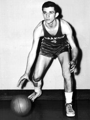 February 18, 1955 - Germantown guard Fred Ciarloni was the only junior named to the 1955 All-Shelby County basketball team in February 1955. Ciarloni was the highest scoring guard in the county with a 15.1 point average.
