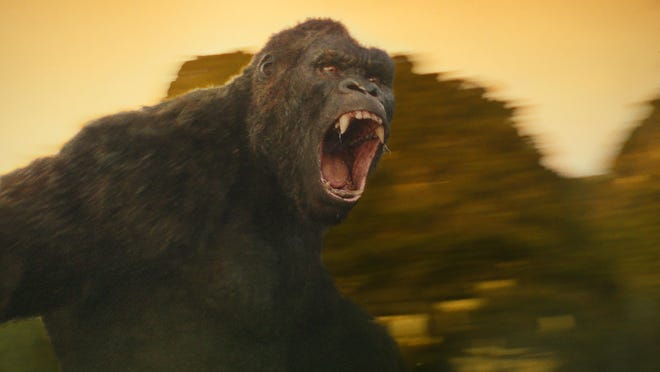 "King Kong gets irritated in ""Kong: Skull Island."""