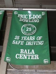 A banner hangs over the driver's office at the Philadelphia