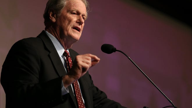 FSU President John Thrasher gives his annual State of the University address at the Augustus Turnbull Center on Wednesday.