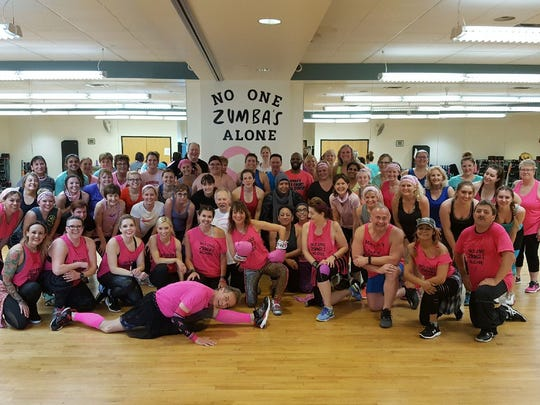 A special event called a Zumbathon was held at the end of April in honor of Zumba instructor Mary Jo Bellinger. The event was held at Innovative Health and Fitness, 8800 S. 102nd St. in Franklin.