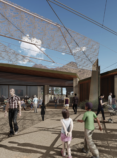 Renderings for Desert EDGE, formerly the Desert Discovery Center, show a reduced footprint.