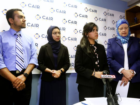 The Alis (left) took part in a press conference Thursday