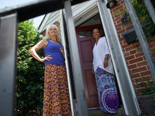 Mary Beth Cichocki (left) and Karen Harris are the co-directors of Kim's Place, a new sober living home that the two just started in Elsmere for women struggling with addiction.
