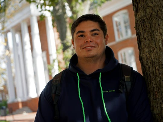 Andrew Smith, a senior civil engineering student at the University of Delaware, says he is supporting Donald Trump in the presidential election.