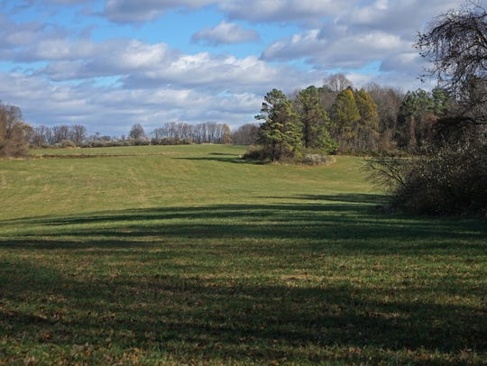 Open land along Beaver Valley Road that belongs to