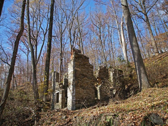 Remains of an old house along the trails of Beaver