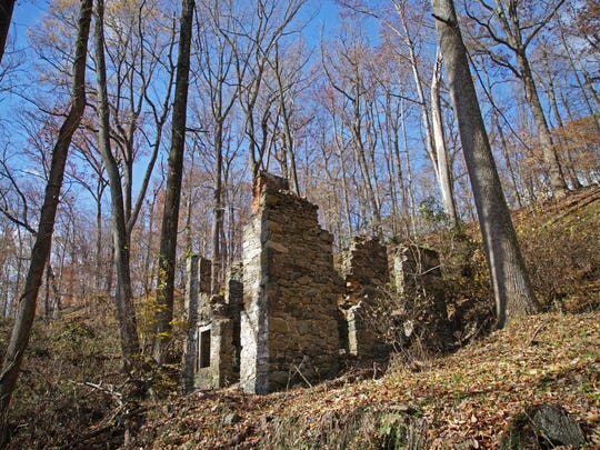 Remains of an old house along the trails of Beaver Valley.